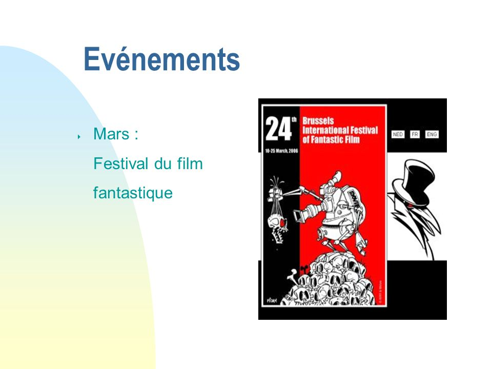 Evénements Mars : Festival du film fantastique