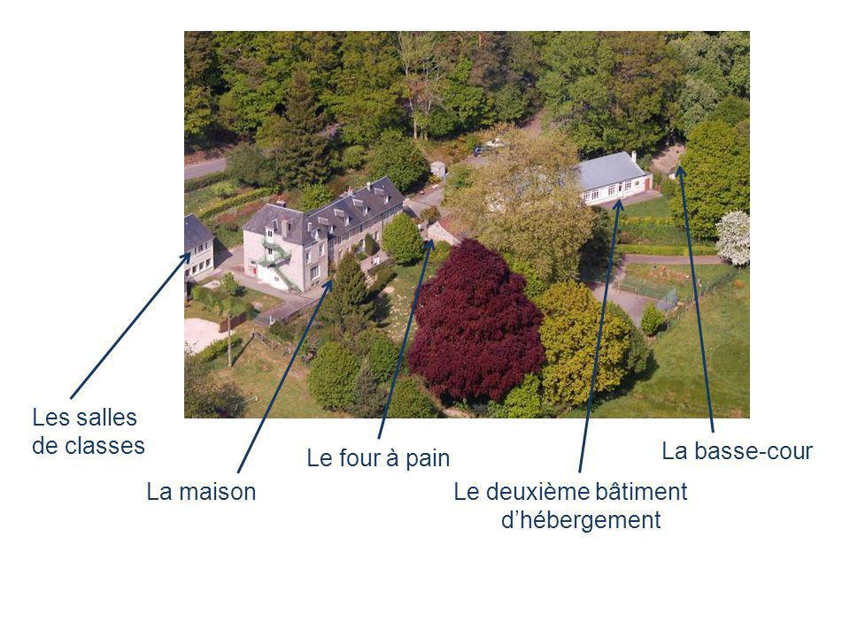 La maison Le four à pain Le deuxième bâtiment dhébergement La basse-cour