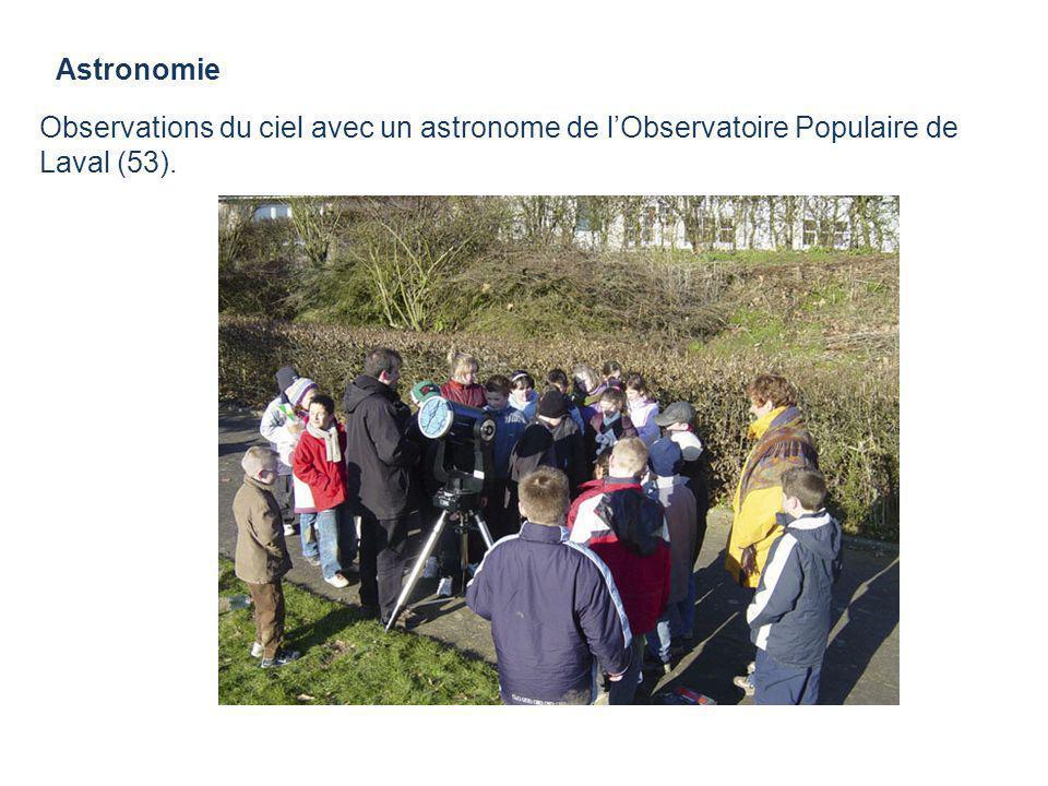 Astronomie Observations du ciel avec un astronome de lObservatoire Populaire de Laval (53).