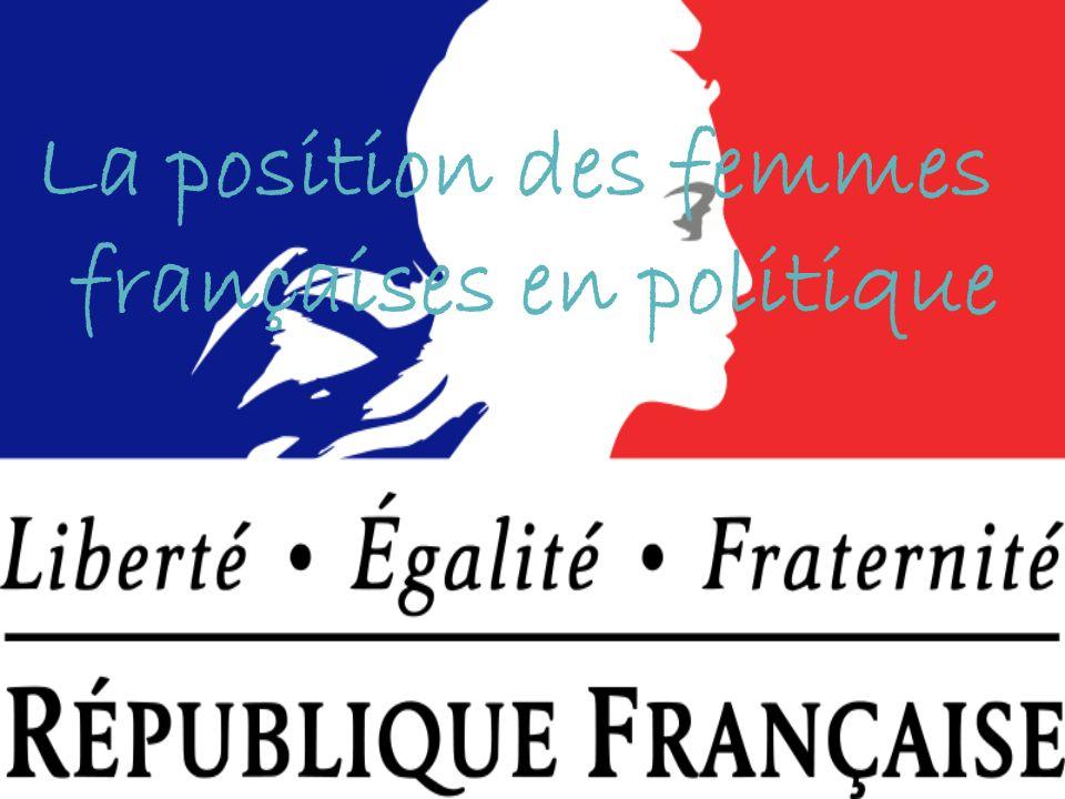 La position des femmes françaises en politique