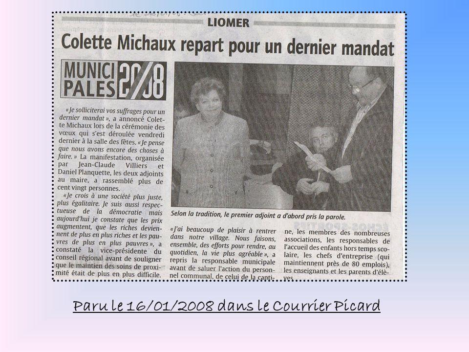 Paru le 16/01/2008 dans le Courrier Picard