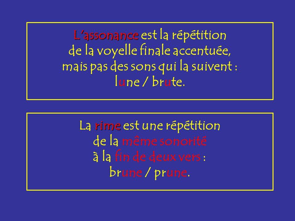 La rime dissyllabique dissyllabique répète les 2 dernières syllabes du vers : fructueuse / défectueuse.