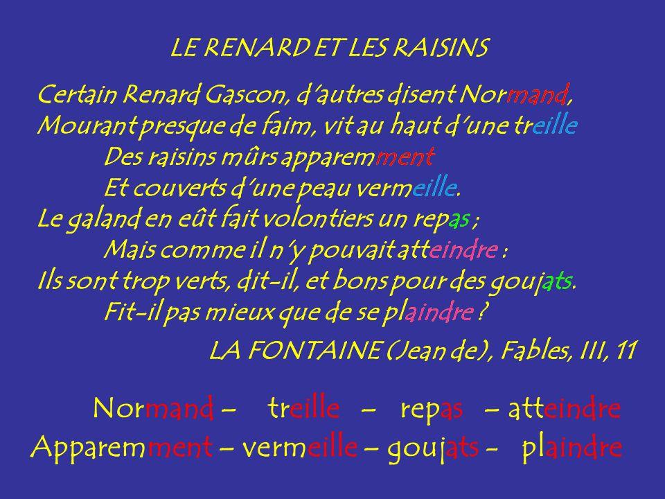 rime La rime est une répétition de la même sonorité à la fin de deux vers : brune / prune.