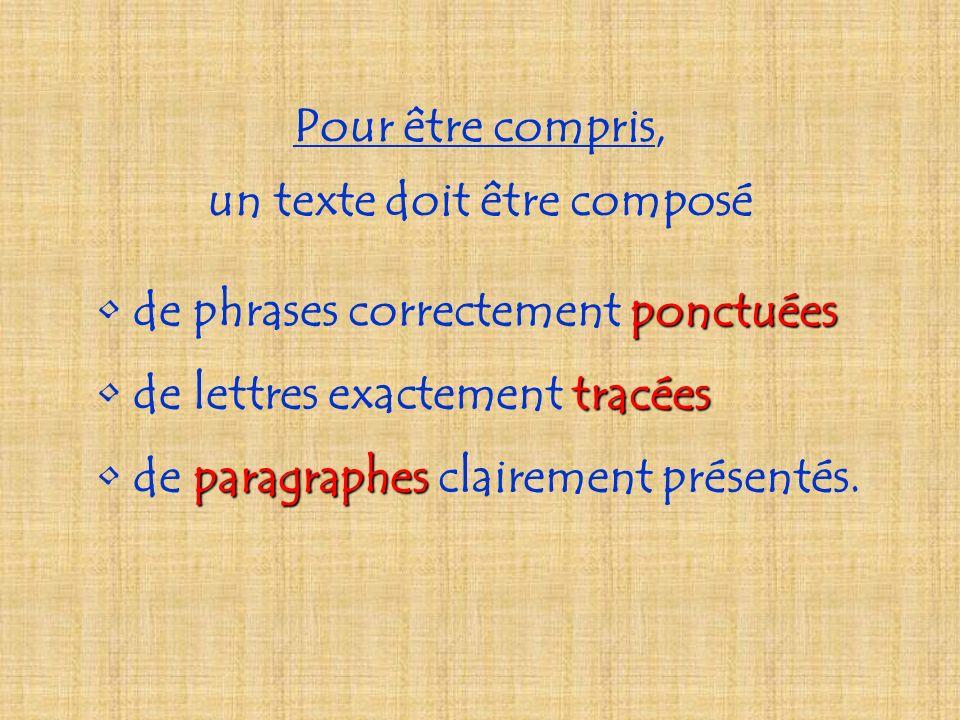 Pour être compris, un texte doit être composé tracées de lettres exactement tracées de p pp paragraphes clairement présentés.