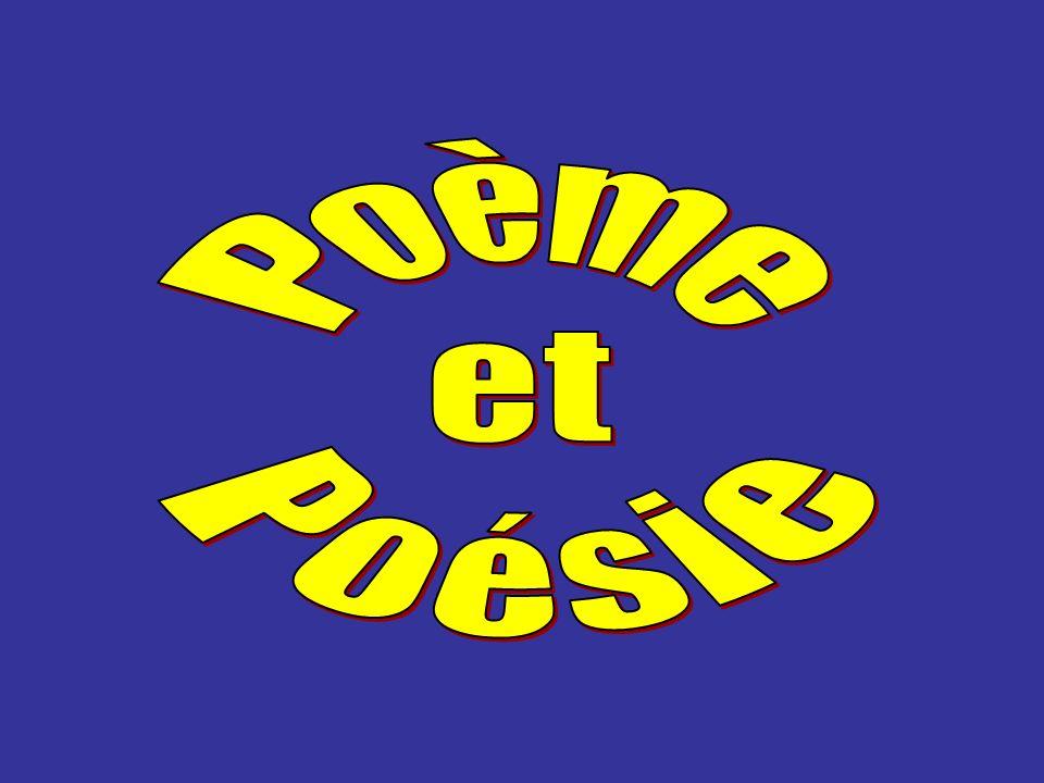poème Un poème peut être mis en musique, cest-à-dire chanté.