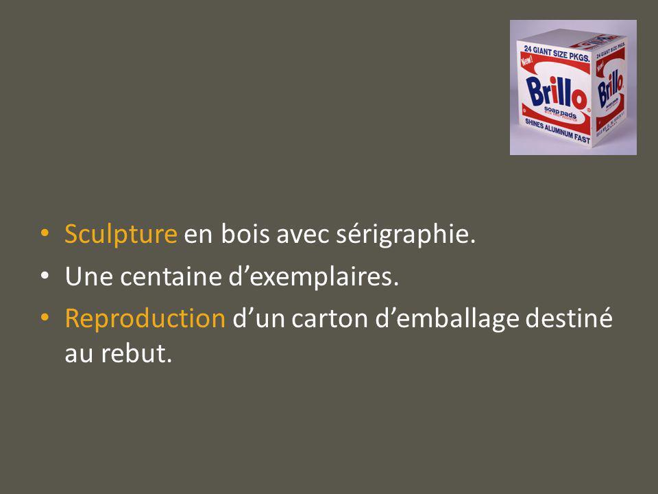 Questionnement : Comment une simple reproduction dun emballage peut-il être une œuvre dart ?