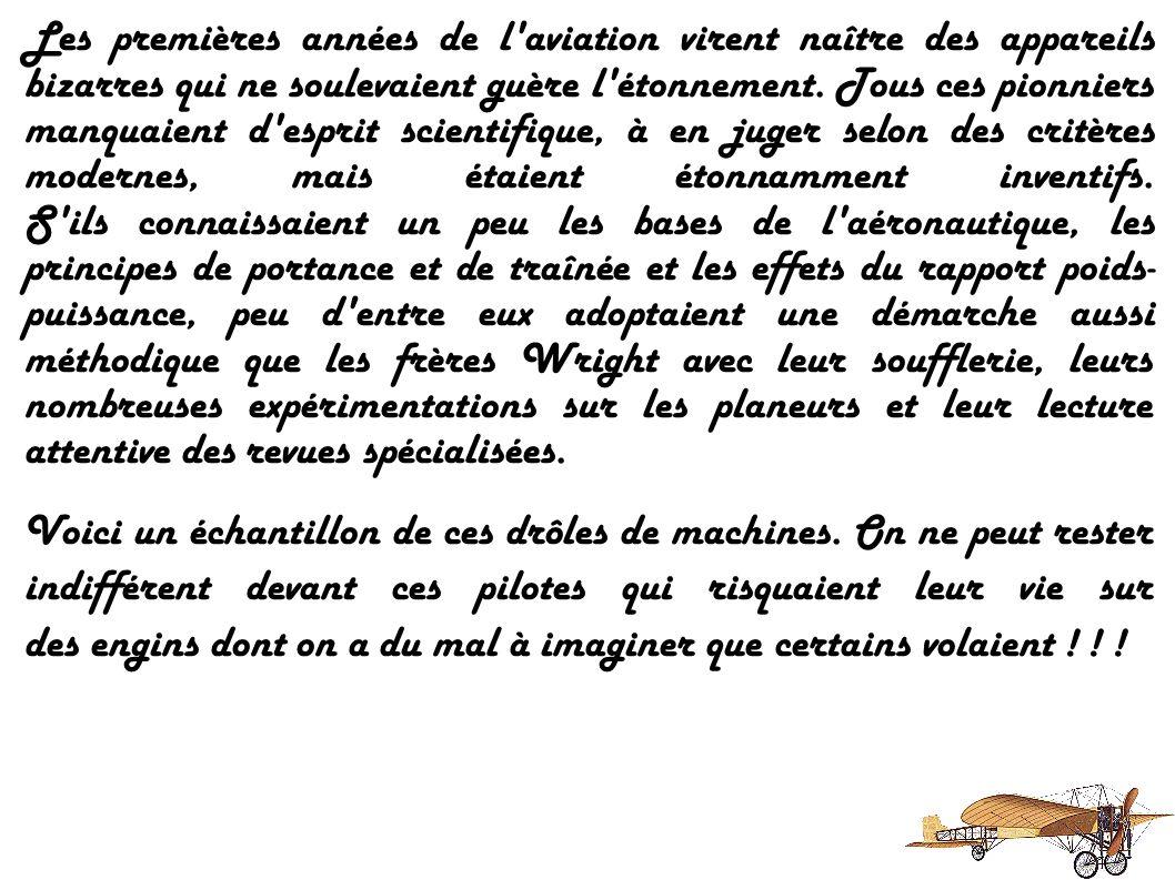 Les Aéronefs AVROF - A.V. ROE (1912) NIEUPORT IV G - EDOUARD NIEUPORT (1911) COURSIER DEPERDUSSIN - LOUIS BECHEREAU (1913) CURTISS A-1 - GLENN CURTISS