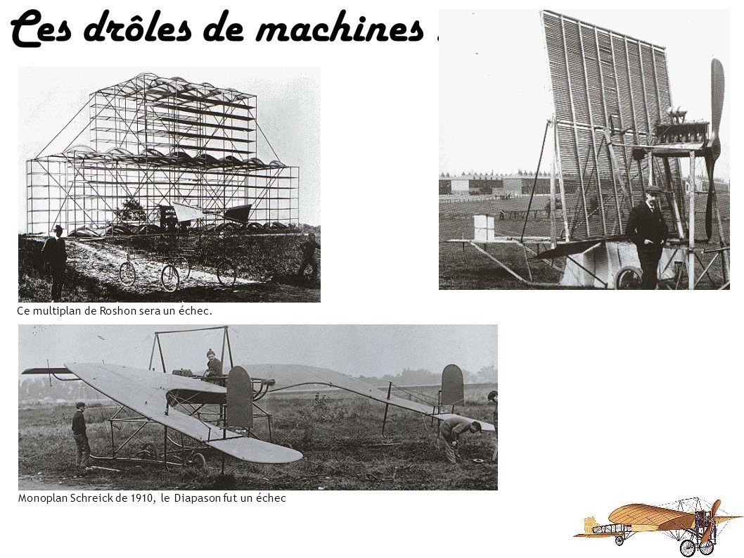 Ces drôles de machines : On consacra 12 ans en vain à ce triplan allemand de toile et bambou Avion du professeur Jerome S. Zerbe, doté de 5 plans à do