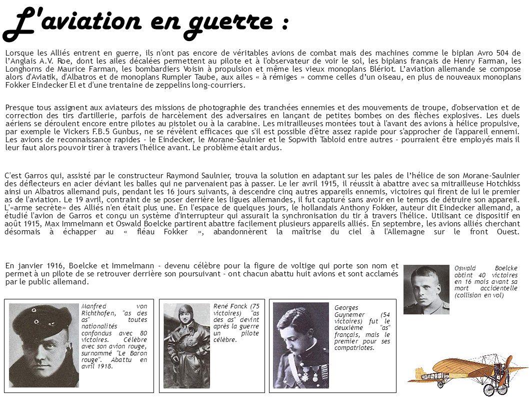 L'aviation en guerre : Le ler novembre 1911, le sous-lieutenant Giulio Gavotti de la Flottille de l'Air italienne vole au-dessus de l'oasis de Taguira