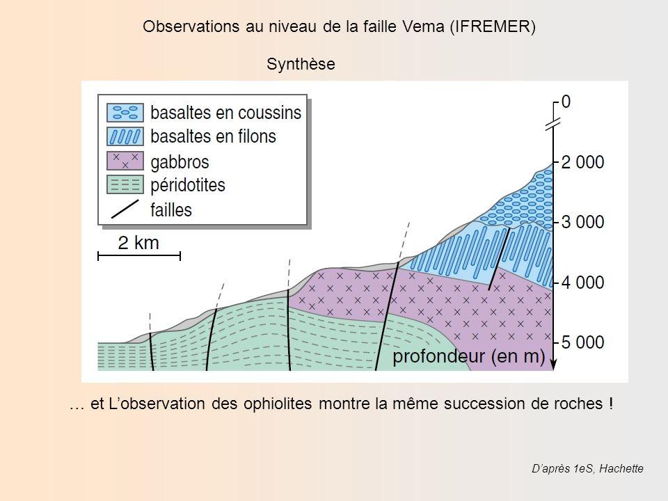 Ophiolite du Chenaillet, Montgenèvre Péridotite serpentinisée Basaltes en coussins Gabbros