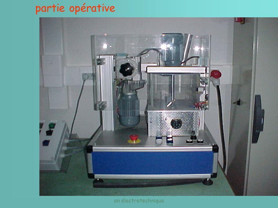 Réseau national de ressources en électrotechnique 38 partie opérative système habilis