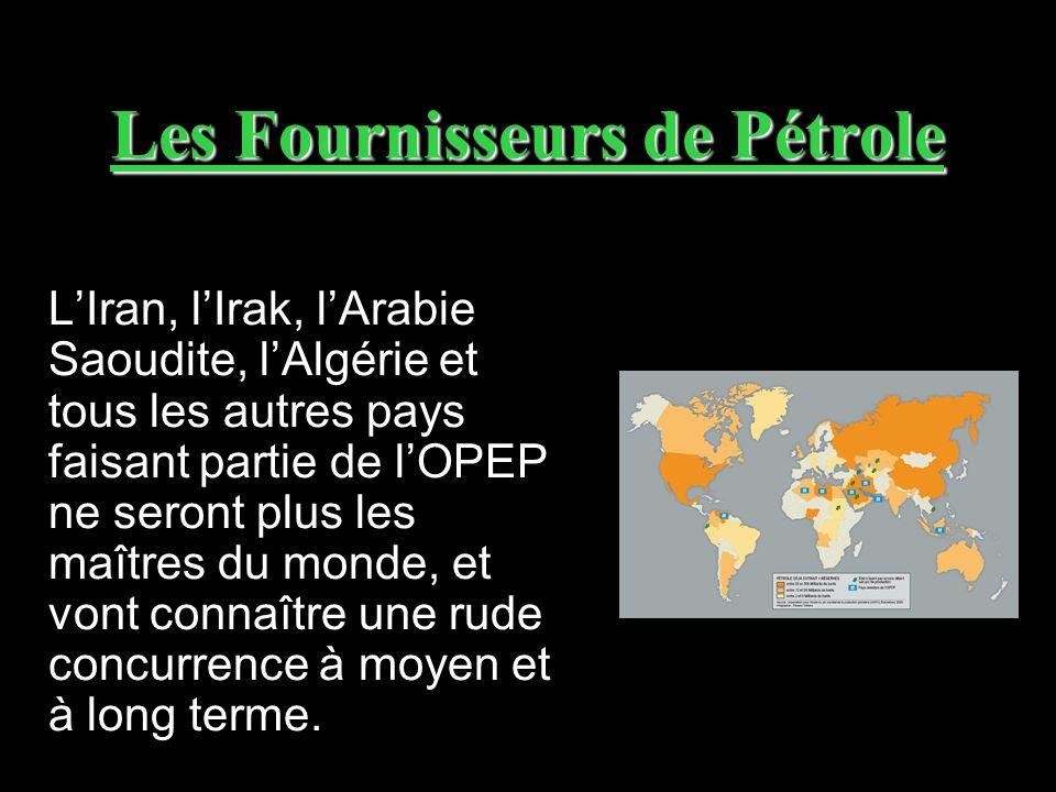 Les Fournisseurs de Pétrole LIran, lIrak, lArabie Saoudite, lAlgérie et tous les autres pays faisant partie de lOPEP ne seront plus les maîtres du mon