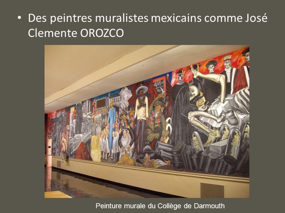 Des peintres muralistes mexicains comme José Clemente OROZCO Peinture murale du Collège de Darmouth