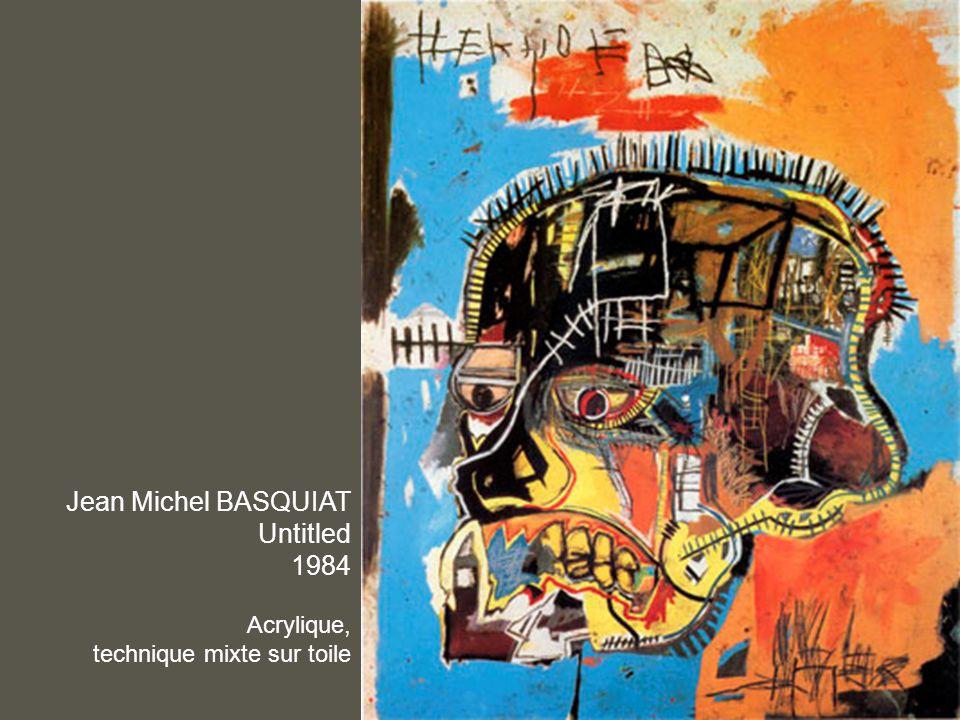 Jean Michel BASQUIAT Untitled 1984 Acrylique, technique mixte sur toile
