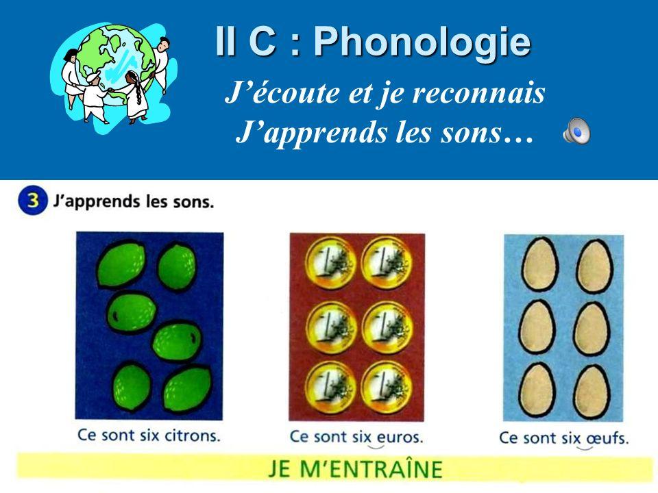 Bernadette Taglia, formatrice CASNAV II C : Phonologie Jécoute et je reconnais Japprends les sons…