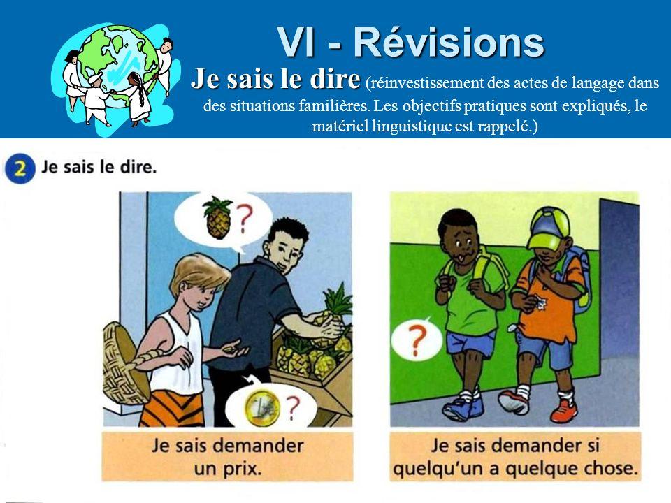Bernadette Taglia, formatrice CASNAV VI - Révisions Je sais le dire Je sais le dire (réinvestissement des actes de langage dans des situations familiè