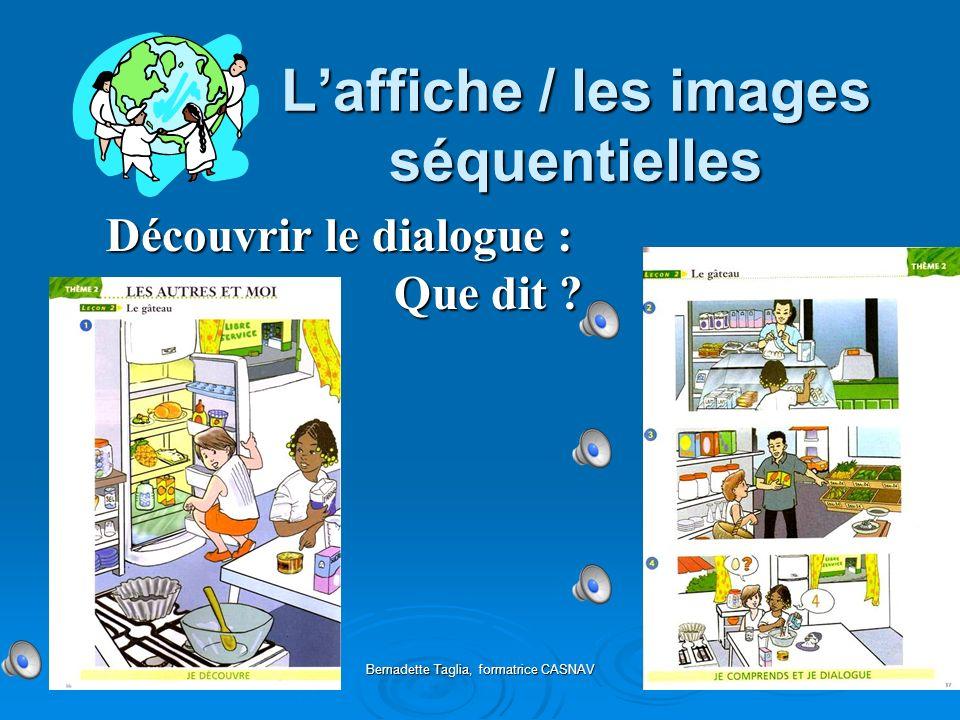 Bernadette Taglia, formatrice CASNAV Appropriation des dialogues Théâtralisation / dramatisation