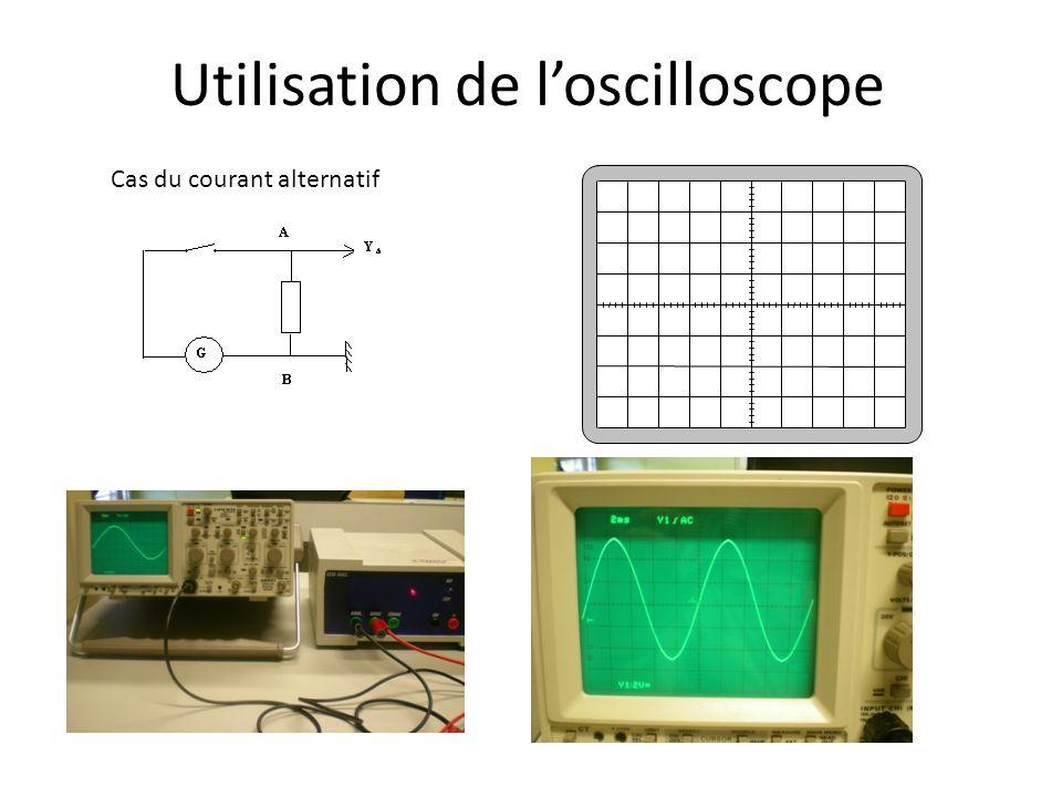 Utilisation de loscilloscope Cas du courant alternatif