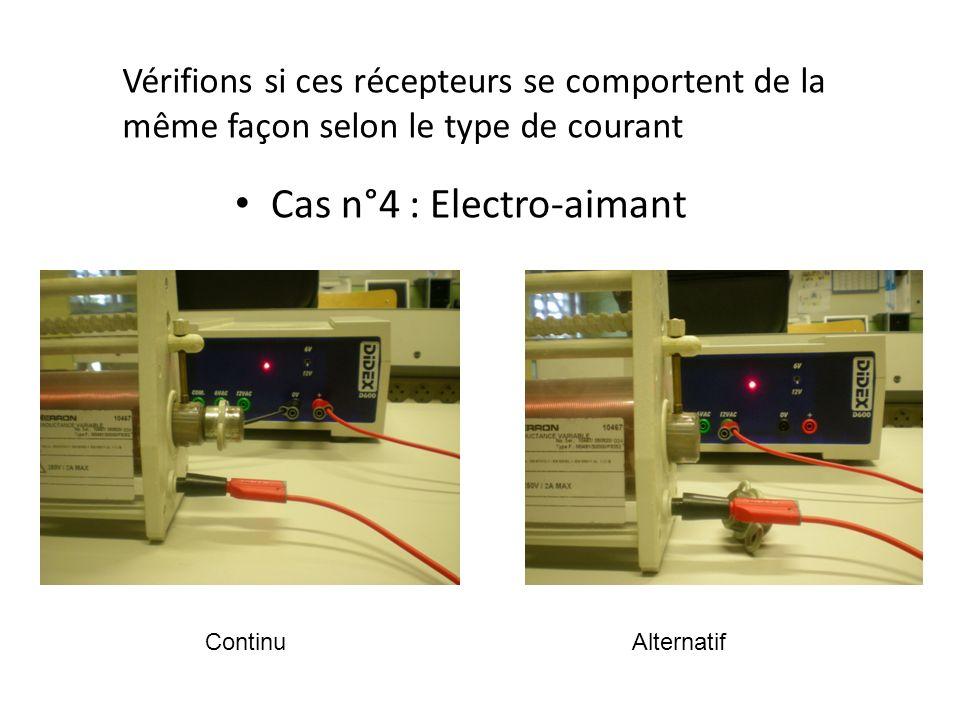 * Quel(s) appareil(s) permettent de distinguer courant continu et courant alternatif ?
