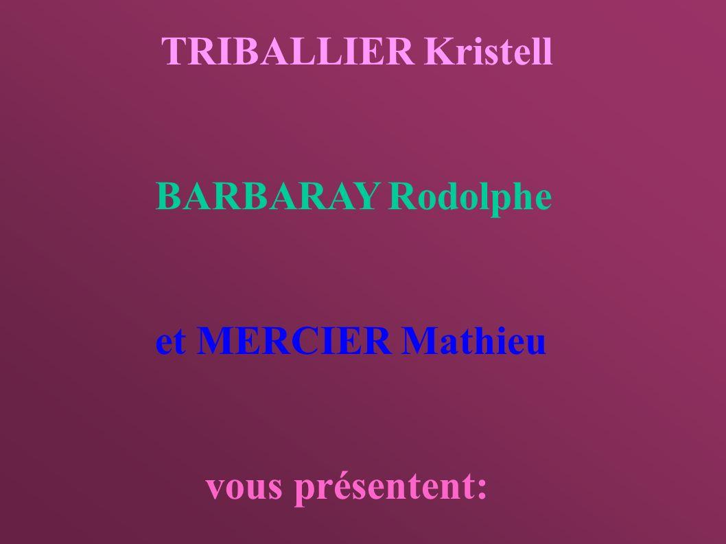 TRIBALLIER Kristell BARBARAY Rodolphe et MERCIER Mathieu vous présentent: