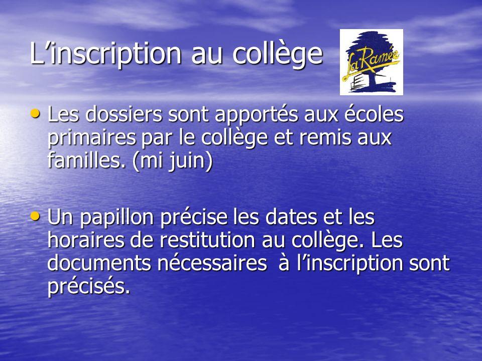 Les classes de 6 ème 6 classes prévues à la rentrée 2011.