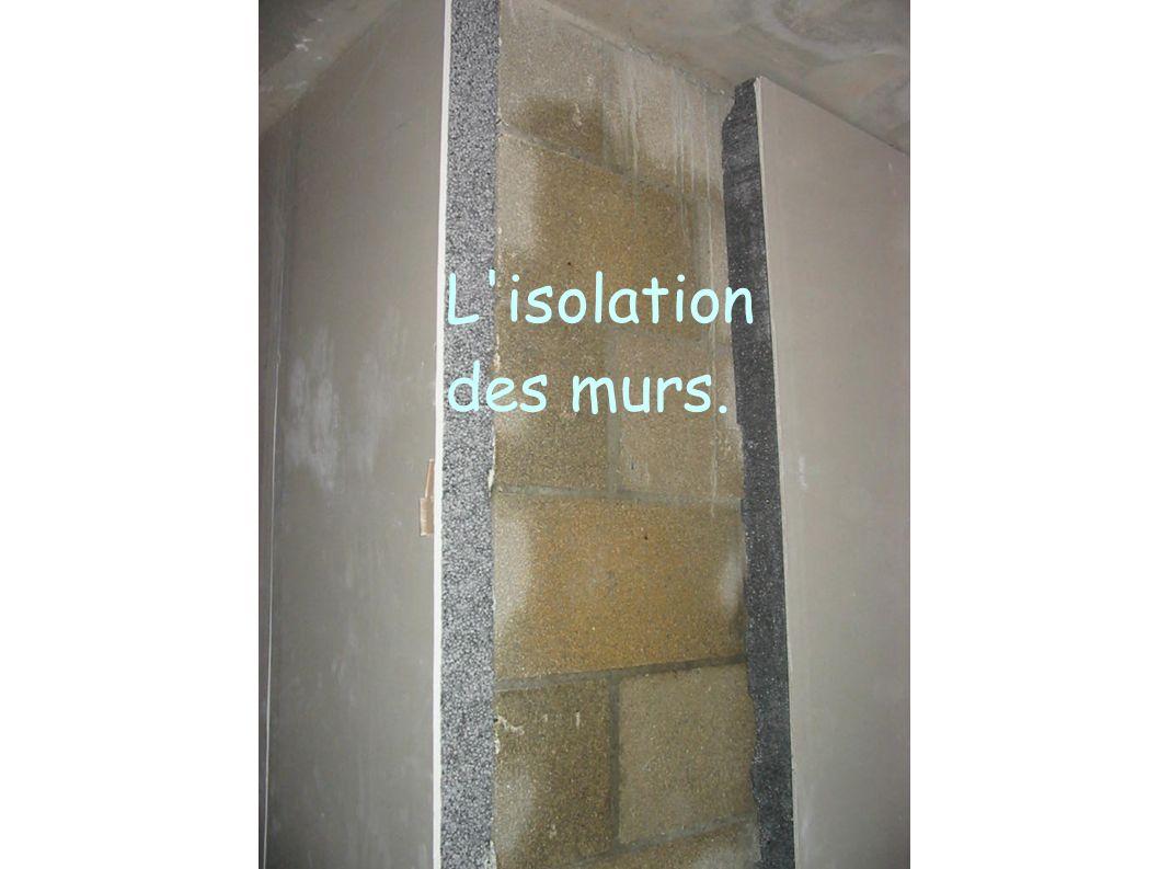 L'isolation des murs.