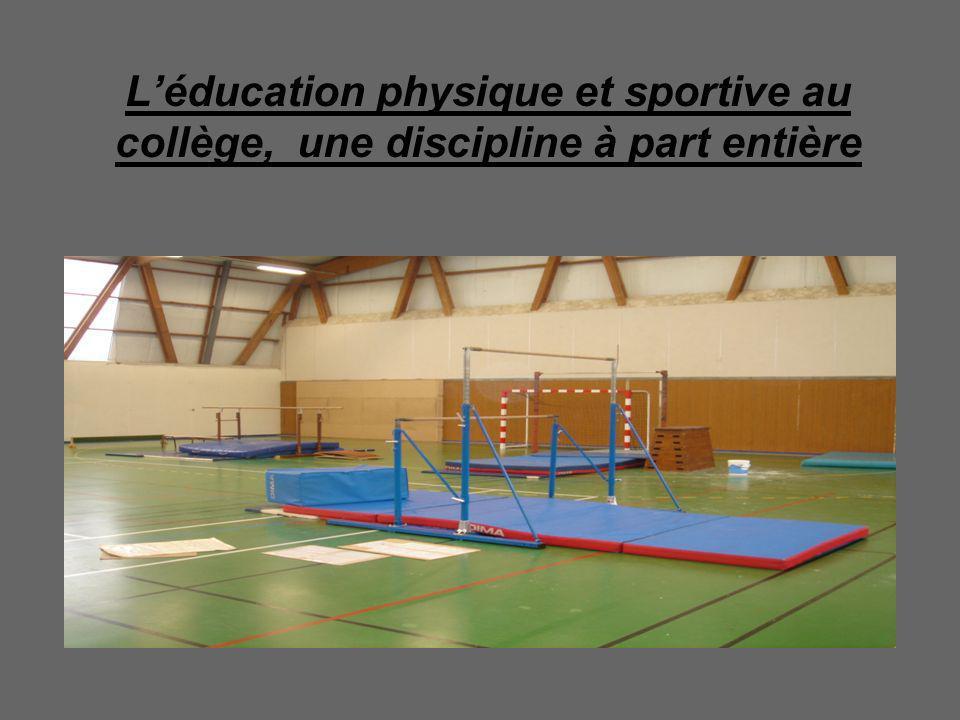 Léducation physique et sportive au collège, une discipline à part entière