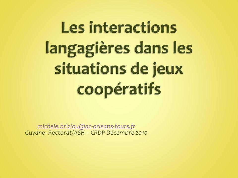 michele.briziou@ac-orleans-tours.fr Guyane- Rectorat/ASH – CRDP Décembre 2010