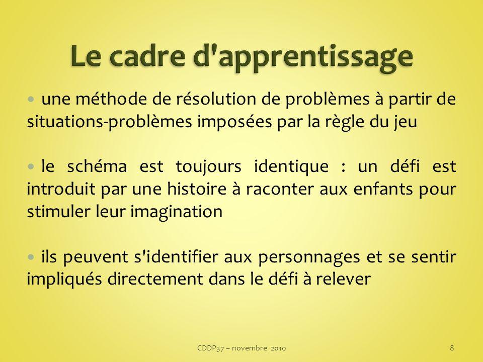 Si la partie est abordée avec les réflexes habituels de chacun, elle a de grandes chances dêtre perdue Ladulte pose les règles de coopération.