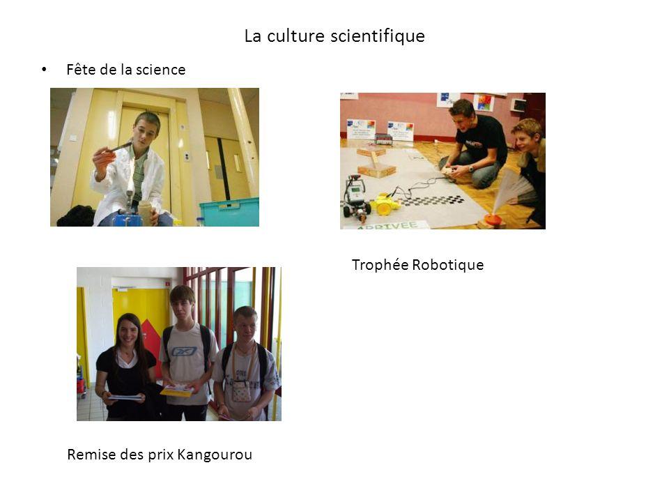 La culture scientifique Fête de la science Trophée Robotique Remise des prix Kangourou