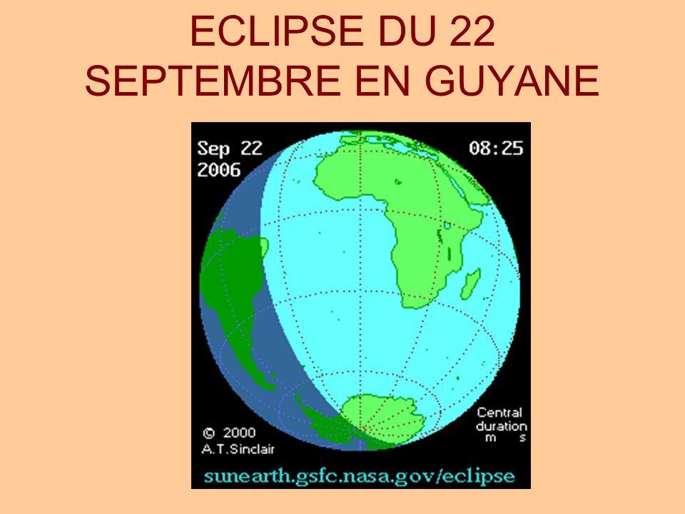 ECLIPSE DU 22 SEPTEMBRE EN GUYANE