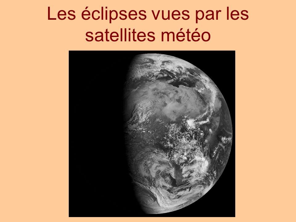 Les éclipses vues par les satellites météo
