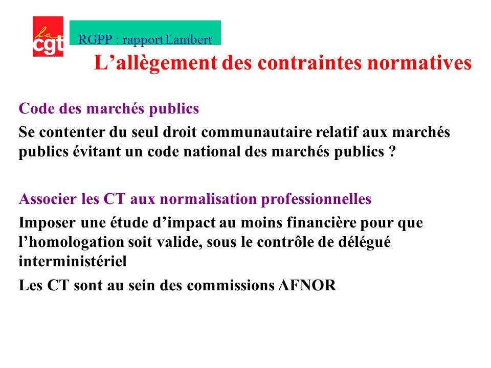 Code des marchés publics Se contenter du seul droit communautaire relatif aux marchés publics évitant un code national des marchés publics .