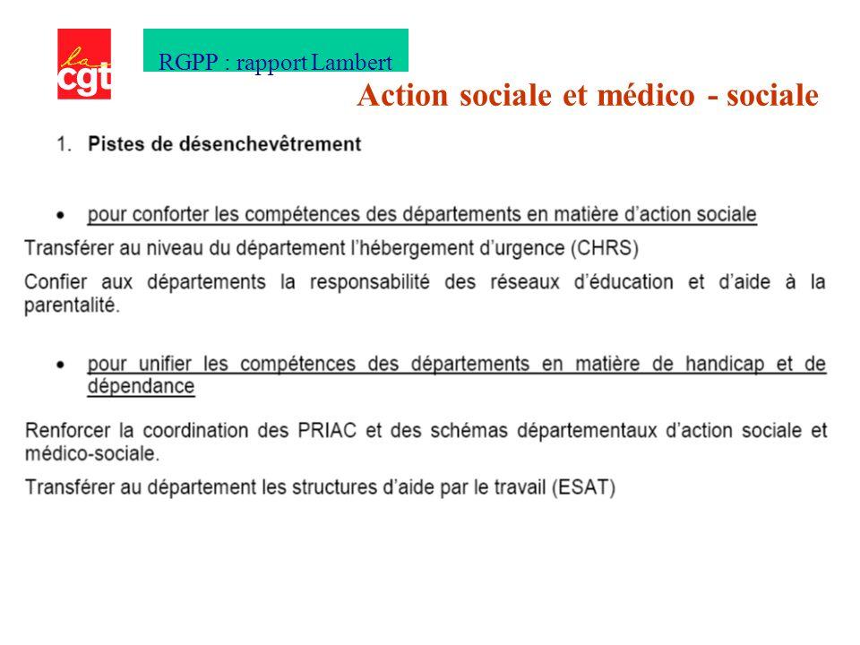 Action sociale et médico - sociale RGPP : rapport Lambert
