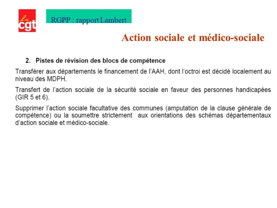 Action sociale et médico-sociale RGPP : rapport Lambert