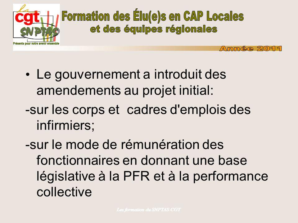 Les formation du SNPTAS-CGT La date des élections générales pour la FPE et la FPH a été fixée au 20 octobre 2011.