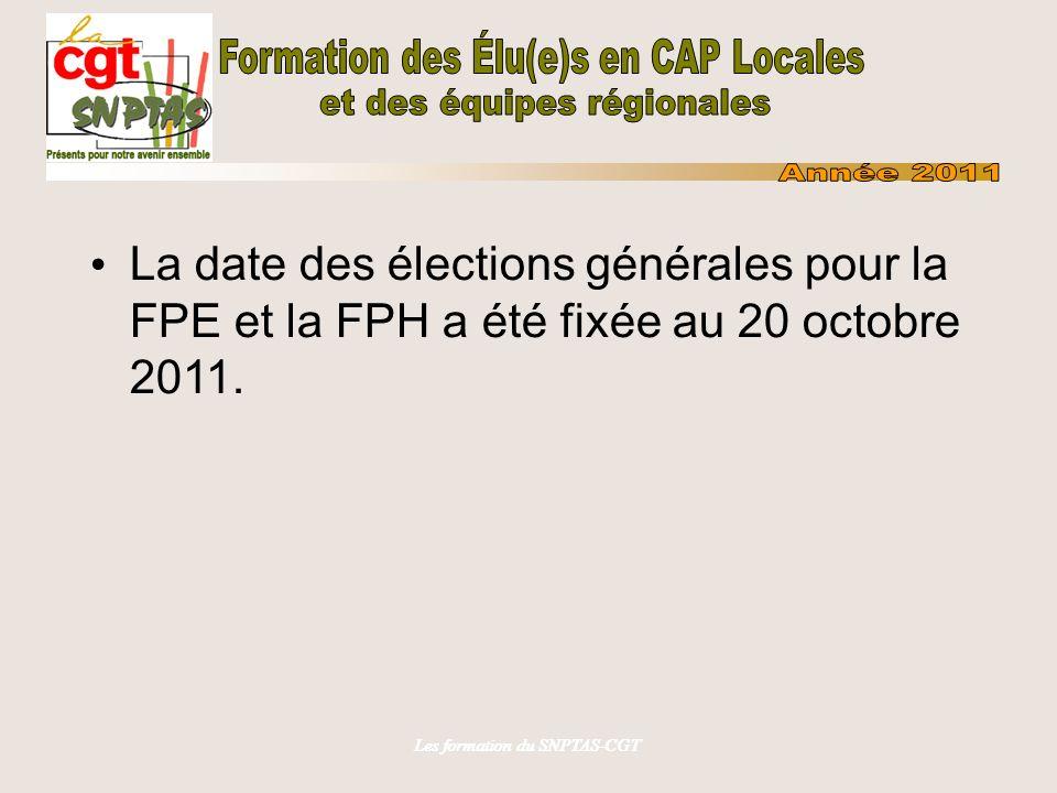 Les formation du SNPTAS-CGT Conditions d accès aux élections: Syndicats constitués depuis 2 ans et critères à satisfaire.