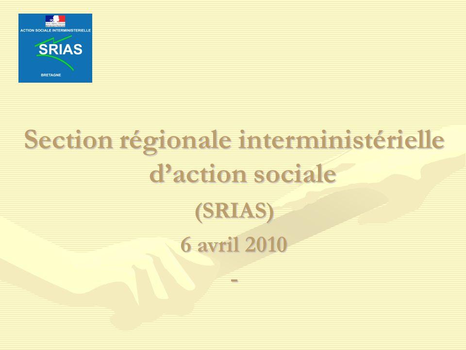 Section régionale interministérielle daction sociale (SRIAS) 6 avril 2010 -