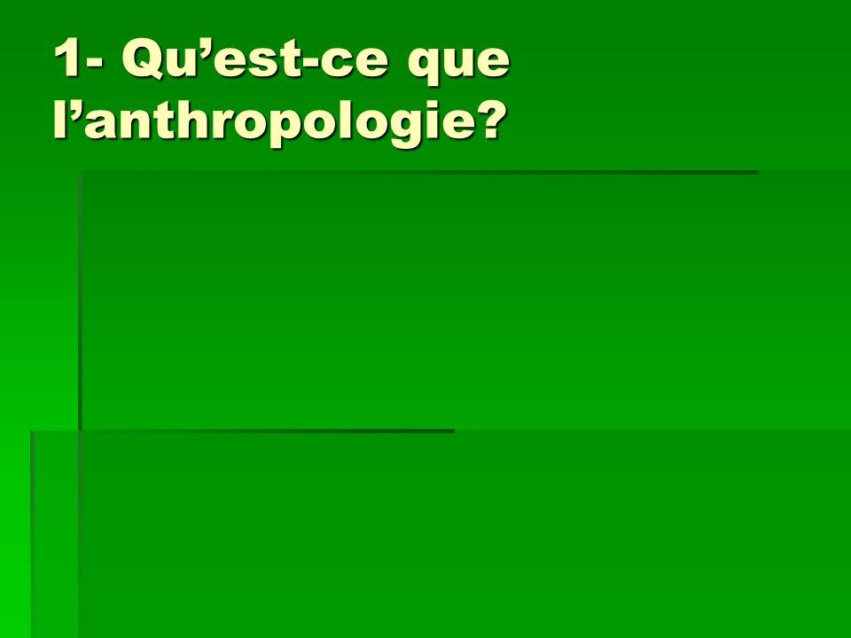 1- Quest-ce que lanthropologie?