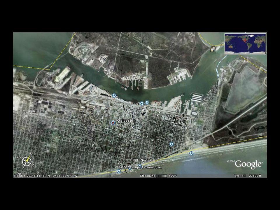 La ville et le fleuve Houston Galveston Bay Pasadena