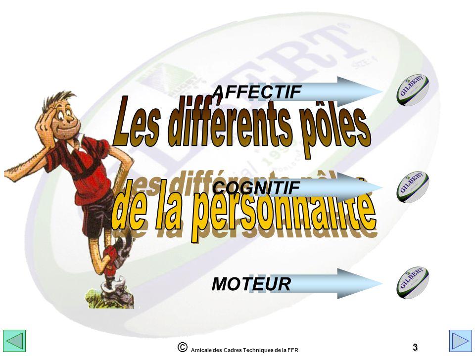 © Amicale des Cadres Techniques de la FFR 3 AFFECTIFCOGNITIFMOTEUR
