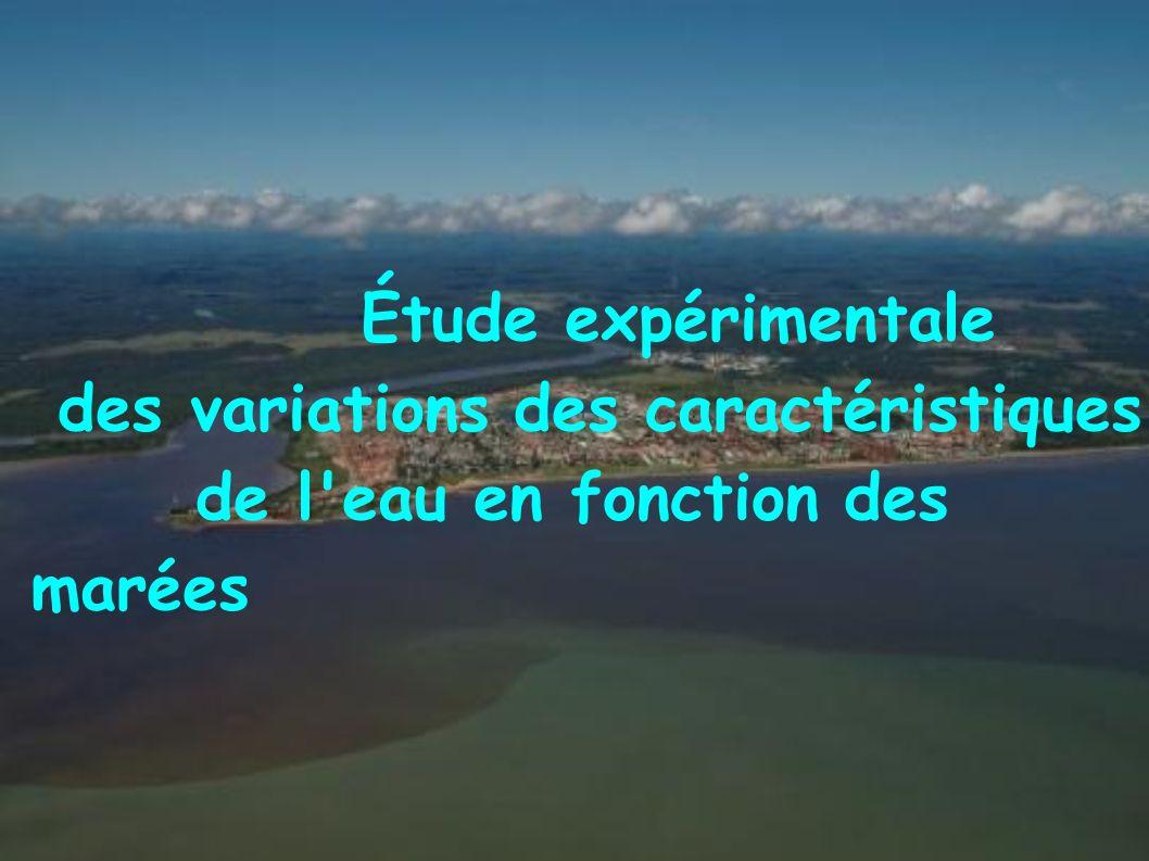 Étude expérimentale des variations des caractéristiques de l eau en fonction des marées