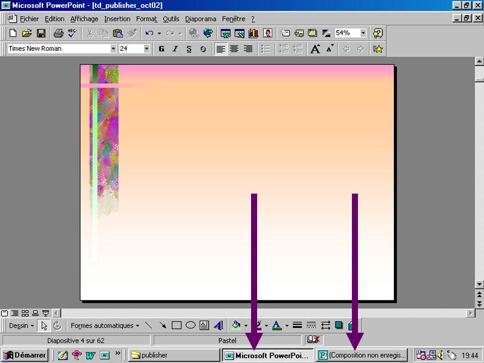 Le pointeur pour retrouver la « main » Insérer un cadre de texte Insérer du texte original Insérer des images de la bibliothèque Créer des rectangles, des ovales, des formes originales et y ajouter du texte……….