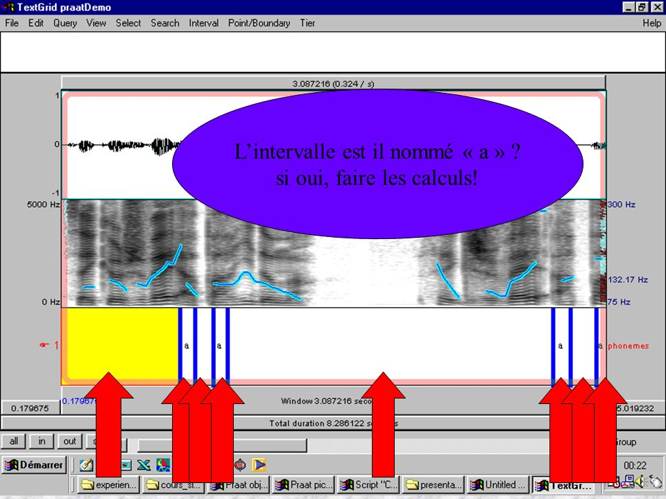 Cédric Gendrot - TAL SLOW 5 - 2003-2004 - ILPGA Lintervalle est il nommé « a » ? si oui, faire les calculs!