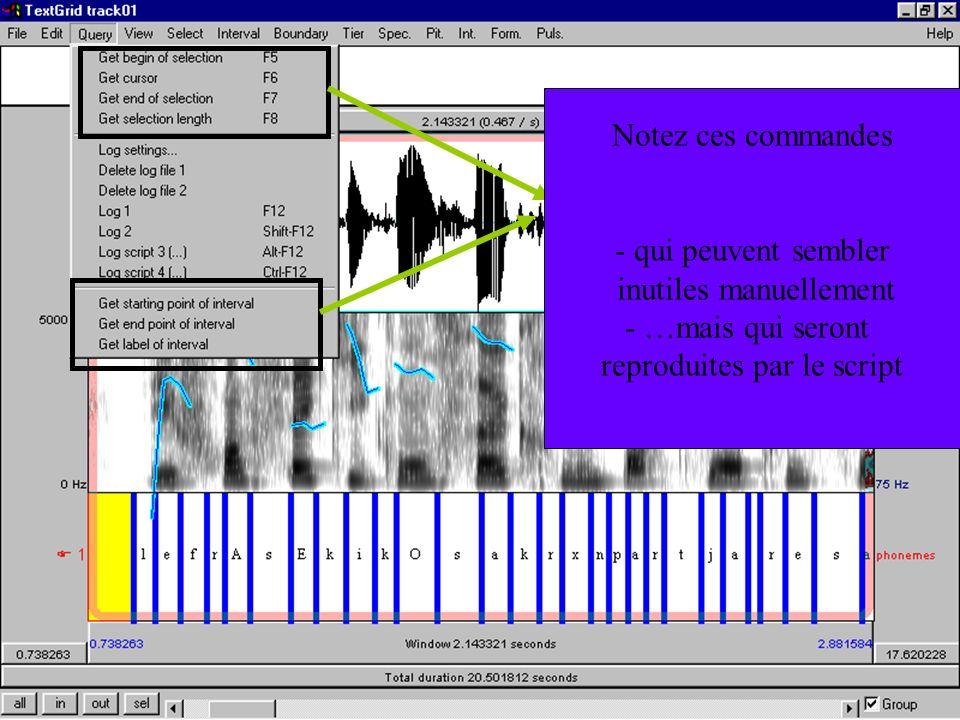 Cédric Gendrot - TAL SLOW 5 - 2003-2004 - ILPGA Notez ces commandes - qui peuvent sembler inutiles manuellement - …mais qui seront reproduites par le