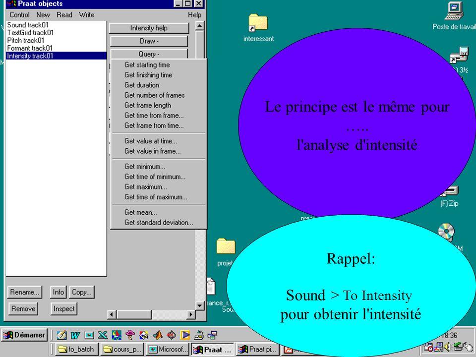 Cédric Gendrot - TAL SLOW 5 - 2003-2004 - ILPGA Le principe est le même pour ….. l'analyse d'intensité Rappel: Sound > To Intensity pour obtenir l'int