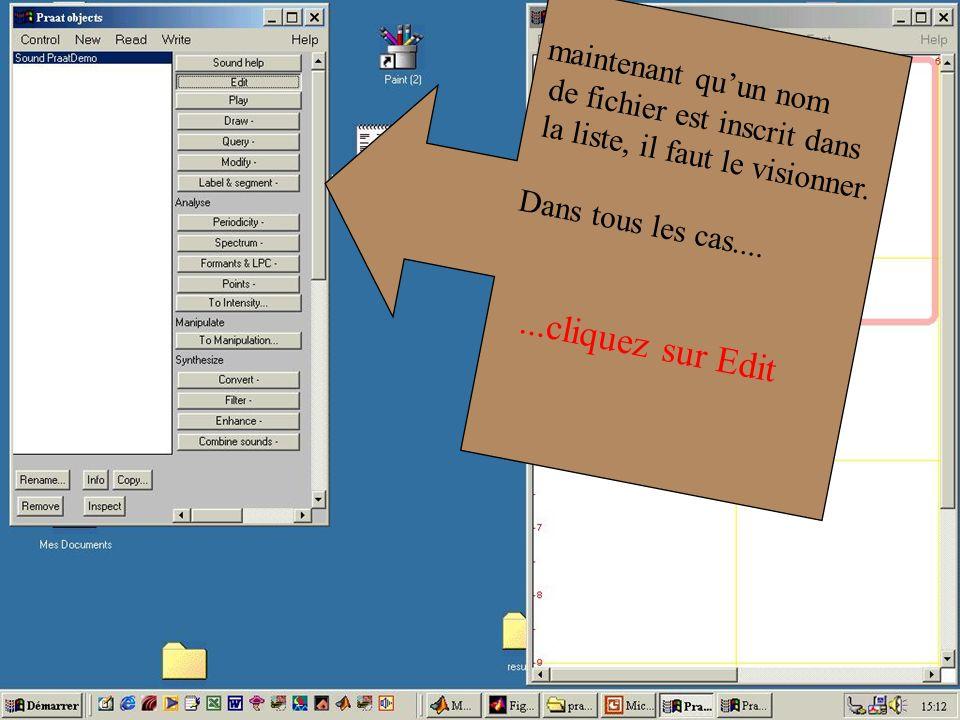 Cédric Gendrot - TAL SLOW 5 - 2003-2004 - ILPGA 22 maintenant quun nom de fichier est inscrit dans la liste, il faut le visionner. Dans tous les cas..