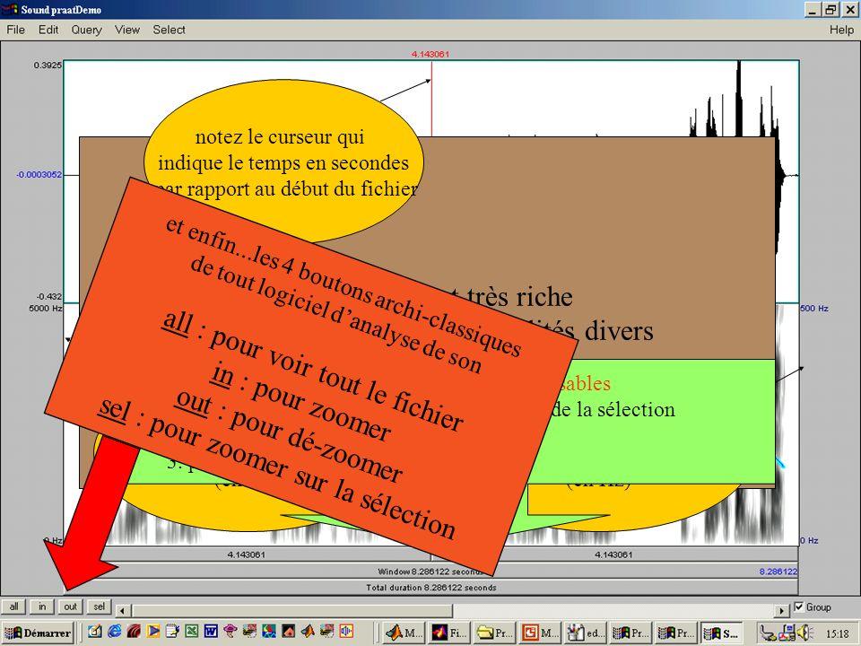 Cédric Gendrot - TAL SLOW 5 - 2003-2004 - ILPGA 23 Cette fenêtre est très riche en renseignements et possibilités divers notez le curseur qui indique