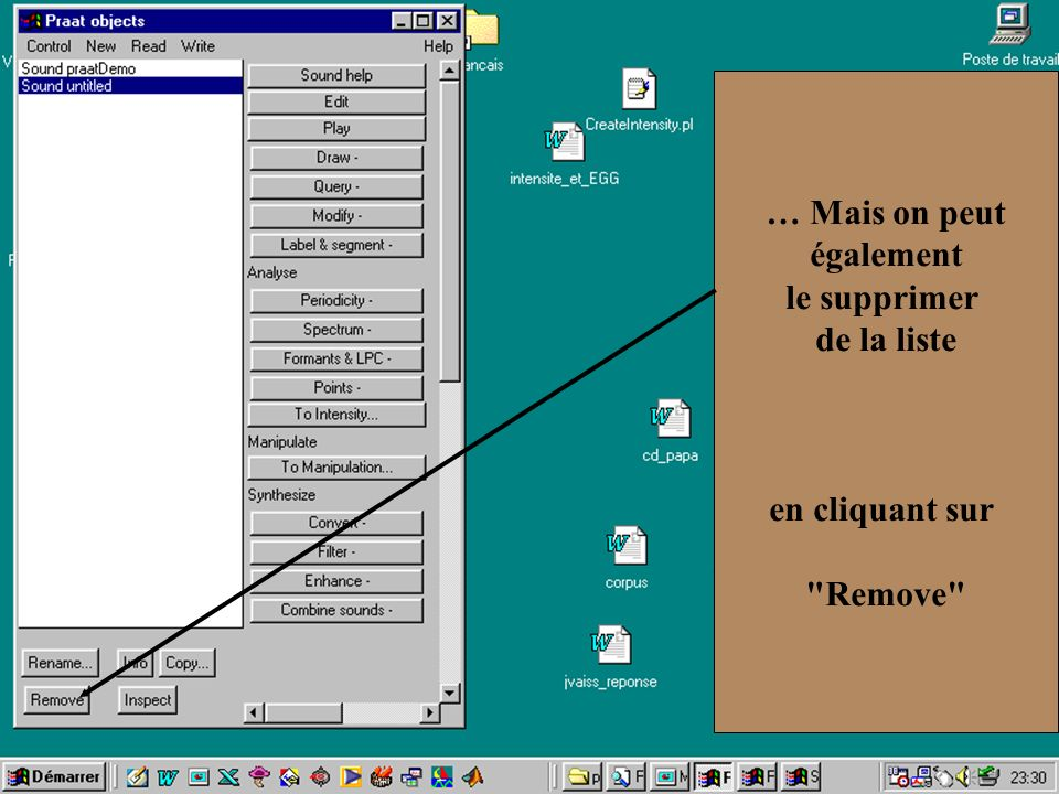 Cédric Gendrot - TAL SLOW 5 - 2003-2004 - ILPGA 34 … Mais on peut également le supprimer de la liste en cliquant sur