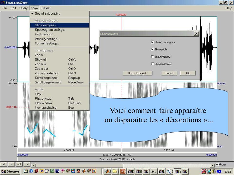 Cédric Gendrot - TAL SLOW 5 - 2003-2004 - ILPGA 48 Voici comment faire apparaître ou disparaître les « décorations »...